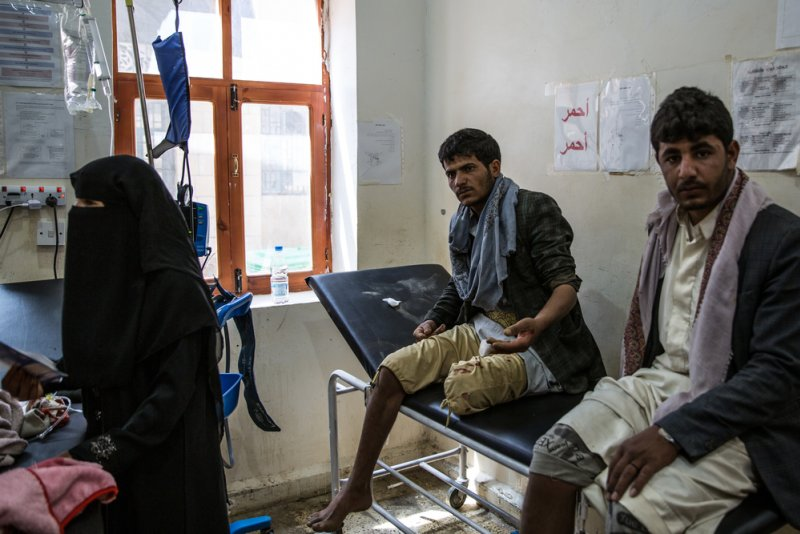 An image preview for 'What we see most are bullet wounds': MSF staff and patients describe the impact of Yemen's war article.